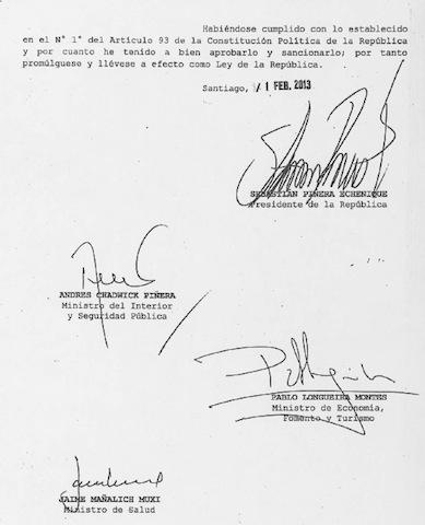 firmas ley